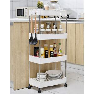 Mobile Shelving Unit Organiser Storage Basket Slim Slide Out Rack Kitchen UK