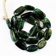 70.00 Cts / 10 Inches Earth Mined Green Jade Oval Shape Beads Strand NE-69E201