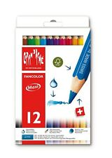 Caran d'Ache Fancolor Color Pencils, 12 Colors, Maxi Diameter