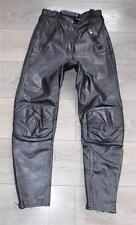 """Vintage Black Leather Armour Sport Biker Trousers Jeans Pants Size W26"""" L27"""""""
