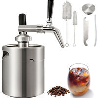Cold Brew Coffee Maker Machine 5L Stainless Nitrogen Infuser Coffee Keg