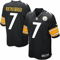 Youth New Pittsburgh Steelers Ben Roethlisberger #7 NFL Nike Football Black Game