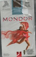 Mondor 3338 Girl's Evolution Over The Boot Ice-Skating Tights Sz 10-12 Brown