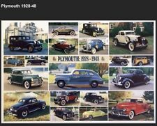 Plymouth 1928-1948 History Out Of Print Car Poster :>)!! Own It!