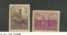 Estonia, Postage Stamp, #NB1-NB2a Imperf Mint Hinged, 1941 Occupation