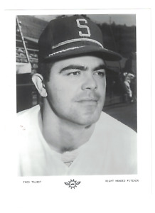 Fred Talbot Seattle Pilots 8x10 Vintage Team Issue Baseball Photo RH2