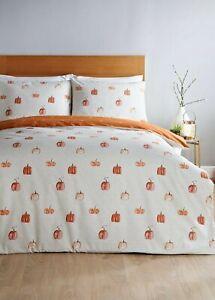 Matalan Pumpkin Autumn Reversible King Size Duvet Set