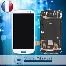 Ecran vitre complet sur chassis pour Samsung Galaxy S3 i9305 Touch and LCD blanc