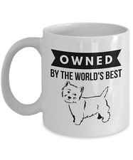 Owned by World's Best Westie Coffee Mug for West Highland Terrier Dog Lovers