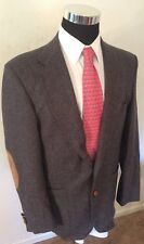 Freza Men's 2 Button 40R 100% Pure Wool Grey Tweed Sports Coat