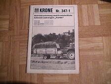 Orig. ETL+BAL Krone Ladewagen Turbo 2200 bis 2800 Tandem
