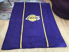 Vintage Los Angeles Lakers Twin Bed Size Comforter Purple And Mesh Gold