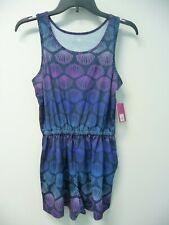 NWT Girls SO Size XL (14) Navy Blue Romper Sea Shell Print Retail $24