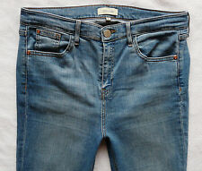 River Island Jeans Size 12 R super skinny high rise ankle grazers raw hems 32/27