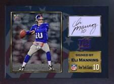 Eli Manning Gigantes De Nueva York Nfl Fútbol Americano firmado autógrafo enmarcado impresión