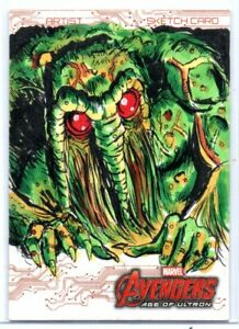 Avengers Age of Ultron (UD 2015) SKETCH Card / MAN-THING by Matthew Parmenter