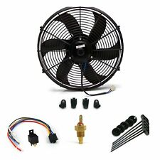 Universal GM 10 Inch Black Radiator Fan volume slim cooling new bundle auto rod