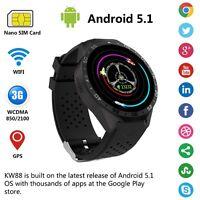 Lemfo KW88 Bluetooth Sport SIM GPS WIFI Wrist Reloj Inteligente For Android IOS