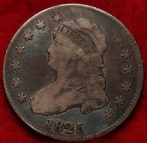 1825 Philadelphia Mint Silver Capped Bust Quarter