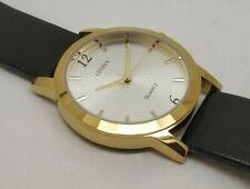 citizen quartz mens gold plated silver dial japan made watch run order d