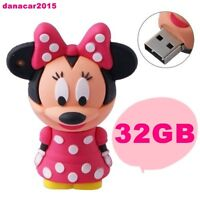 PEN DRIVE PENDRIVE DE MINNIE MOUSE ROSA 32GB 32 GB MEMORIA USB(4 8 16 64 MICKEY)
