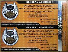 Harley Davidson 105th Anniversary Celebration Tickets 2008 - Bruce Springsteen