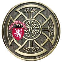 New Scottish Kilt Belt Buckle Round Celtic Knot Antique Finish Highland Buckles