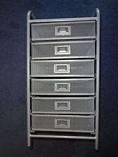 John Lewis stainless steel pedestal underdesk filing cabinet 6 drawer unit study