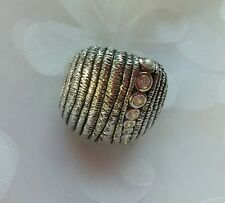 "Silpada .925 Sterling Silver Cubic Zirconia ""In The Groove"" Ring SZ 10 R2981"