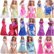 High-qulity 5PC Barbie & Disney Doll Outfits Vintage Evening Dress Gown&Clothe