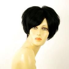 wig for women 100% natural hair black ref AMANDINE 1B PERUK