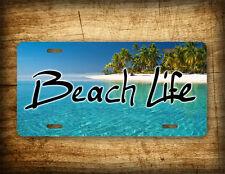 BEACH LIFE License Plate Salt Water Palm Trees, Sand Water & Beaches Photo Tag