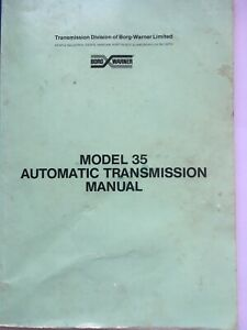 BORG WARNER TYPE 35 AUTOMATIC TRANSMISSION OFFICIAL WORKSHOP MANUAL
