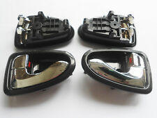 For 00-06 Hyundai ACCENT Inside Interior Chrome Left Right Side Door Handle 4Pcs