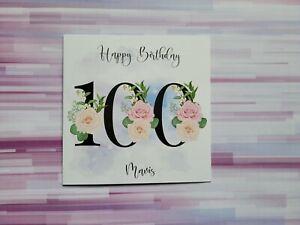 Age 100 Birthday, 100th, Birthday card, personalised, free postage