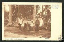 Chancellor Family Solo Surakarta Java Indonesia stamp 1920