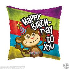 """18"""" Cute Monkey with Happy Birthday to you message Mylar Foil Balloon Party Gift"""