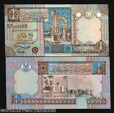 LIBYA 1/4 DINAR P62 2002 RUIN FORTRESS UNC AFRICAN CURRENCY MONEY BILL BANK NOTE