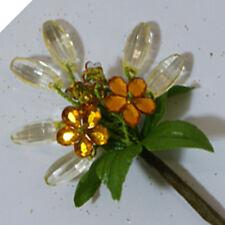2 x CRYSTAL FLOWER SPRAY - VARIOUS COLOURS