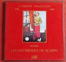 MOLIERE LES FOURBERIES DE SCAPIN COFFRET 2 LPS  + LIVRET  COMEDIE FRANCAISE
