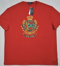 Polo Ralph Lauren TShirt Crown Crest Red Tee Classic Fit XL NWT