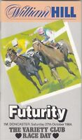 Racecard - Doncaster 27th October 1984 Futurity Stakes