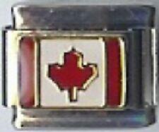 Canada Canadian Italian Charm 9mm fits Classic Starter Bracelets