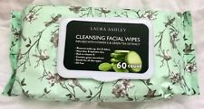 NEW Laura Ashley Cleansing Facial Face Wipes Green Tea Makeup Remover 60 Count
