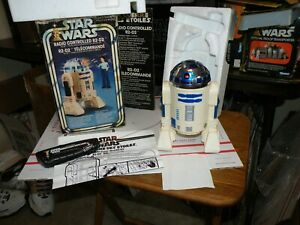 1977 STAR WARS RADIO REMOTE CONTROL R2-D2 W/BOX & INSTRUCTIONS TESTED WORKS READ
