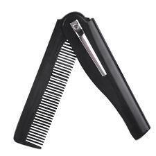 2pcs Travel Men Women Folding Pocket Clip Hair Comb Beard Moustache Portable New