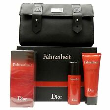 DIOR FAHRENHEIT 4 PIECE GIFT SET EAU DE TOILETTE SPRAY 100ML NIB-F918209000