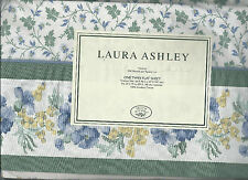 Laura Ashley Josephine Twin Flat Sheet Cream Green Yellow Purple Floral  New
