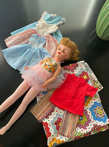 """Vintage 18"""" Revlon Type Fashion Doll w/Custom Homemade Clothing: 14R 14-R"""