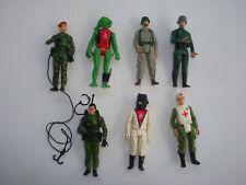 Gi joe Gijoe Action Force Man Palitoy meccano - lot 7 figurines - action figures